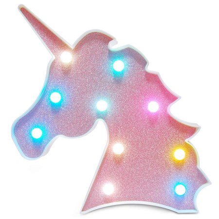 Marquee Halloween Party 2017 (Peroptimist Colorful Unicorn Light,Neon Unicorn Marquee Sign,Unicorn Lamp Party Supplies,Unicorn LED Night Light Wall Decoration Room Decor for Little Girls,Living Room,Bedroom as Kid's)