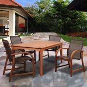 Amazonia Indiana 5 Piece Rectangular Dining Set with Sling Chairs