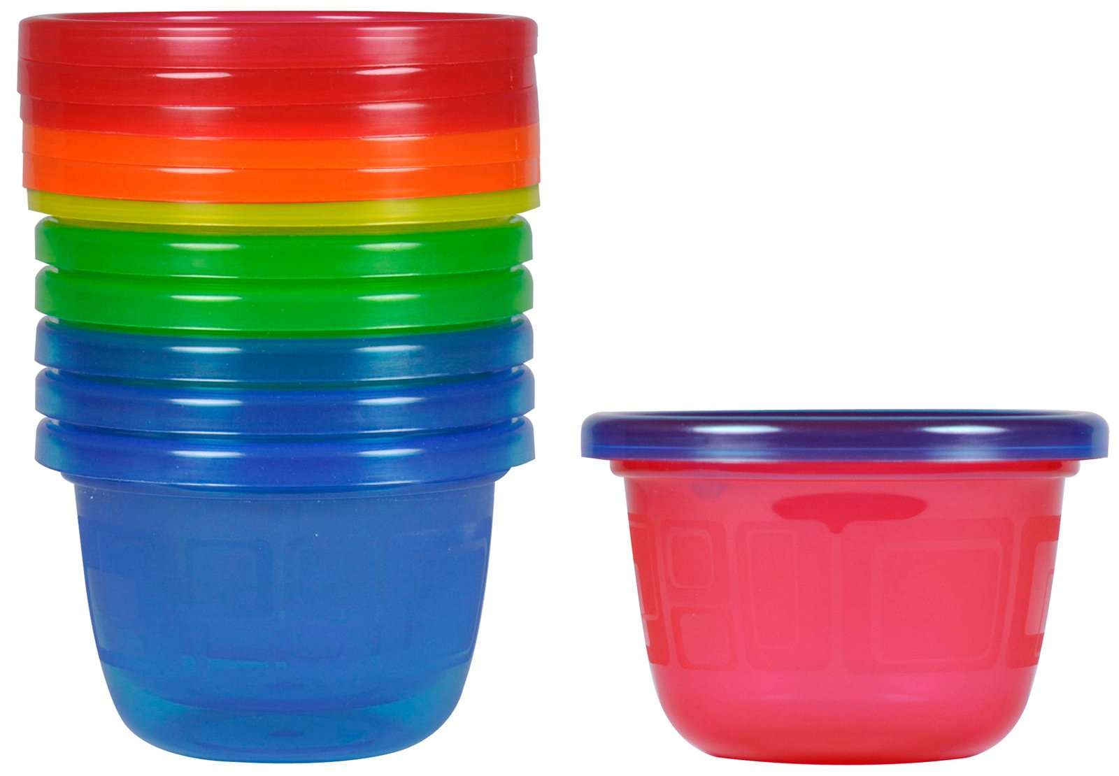The First Years Take and Toss Snack Cups - 4.5 Ounce - 6 Pack - Blue and Green