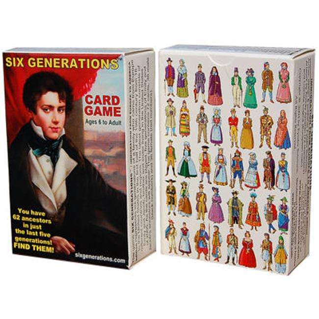 Six Generations 6GN 1000 Card Game with Playing Cards