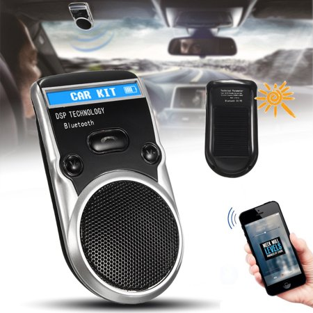 Solar Powered DSP bluetooth Handsfree Car Kit 5V LCD Speaker with