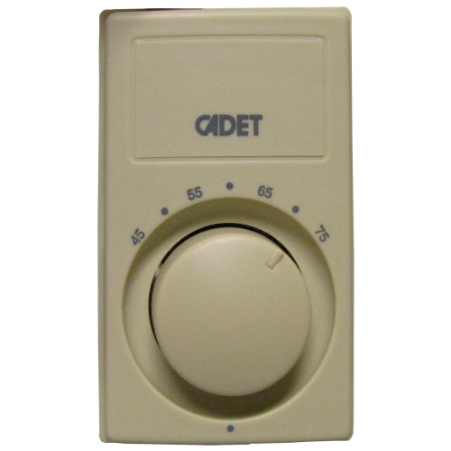 Cadet C600M Bimetal 22 Amp Two Stage Single Pole Wall Thermostat