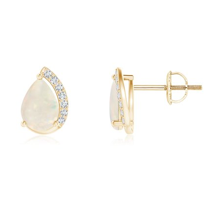 459d01a86 Angara - Women's Day Sale - Solitaire Pear Opal Swirl Stud Earrings with  Diamond Accents in 14K Yellow Gold (7x5mm Opal) - SE1339OPD-YG-A-7x5 -  Walmart.com