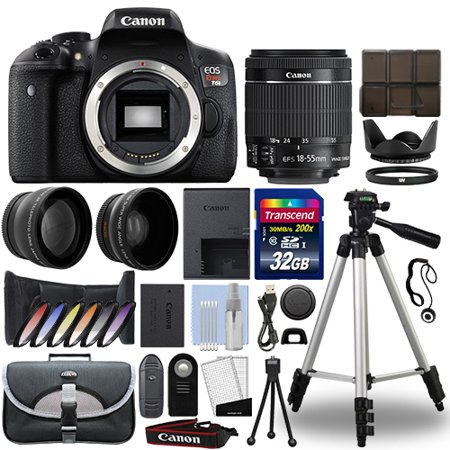 Canon T6i / 750D DSLR Camera + 18-55mm IS STM 3 Lens Kit + 32GB Best Value