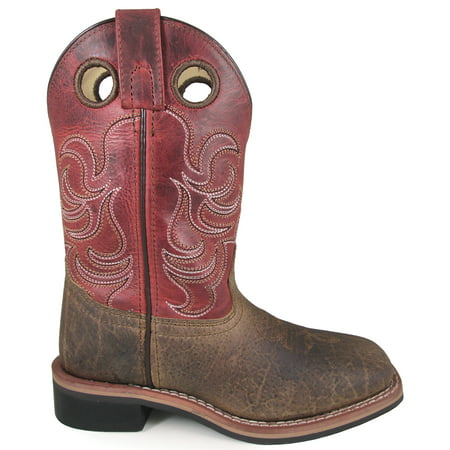 Smoky Mountain Kid'S Jesse Brown/Burnt Apple Leather Cowboy Kids Boot - image 1 of 1