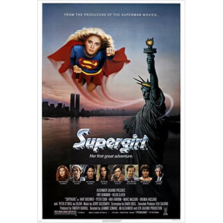 1984 Classic Movie Poster Supergirl Action Hero Helen Slater New York 24X36 (Reproduction, Not An Original)