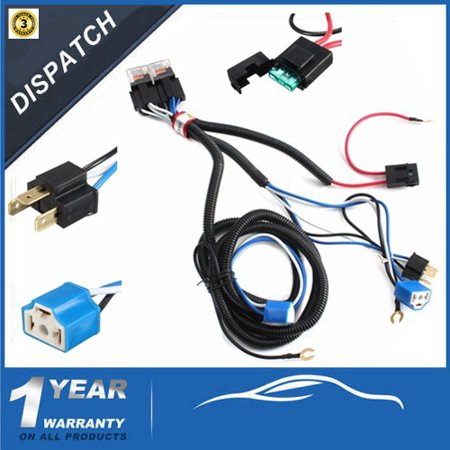 12V 7 Inch H4 Headlight Relay Harness Wire Halogen Ceramic ... H Headlamp Wiring Harness on