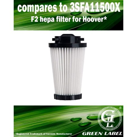 For Dirt Devil F2 HEPA Vacuum Filter (compares to 3SFA11500X). Fits: M084600Q Dynamite Quick Vac. Genuine Green Label Product.