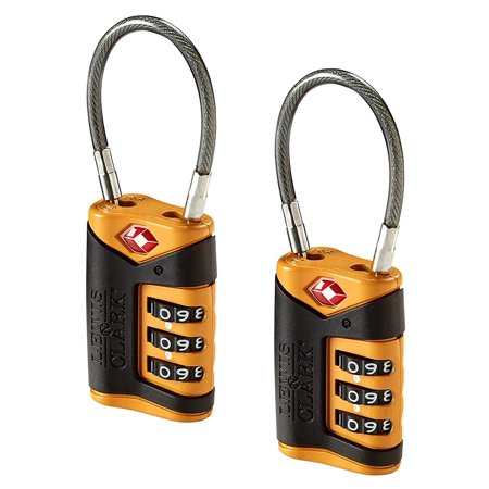 Lewis N Clark TSA Cable Lock 2-Pack, Orange- XSDP -TSA40X2ONG - You never know when someone might try and sneak into your luggage, so keep it locked with the Lewis N Clark TSA Cable Lock 2-Pack.