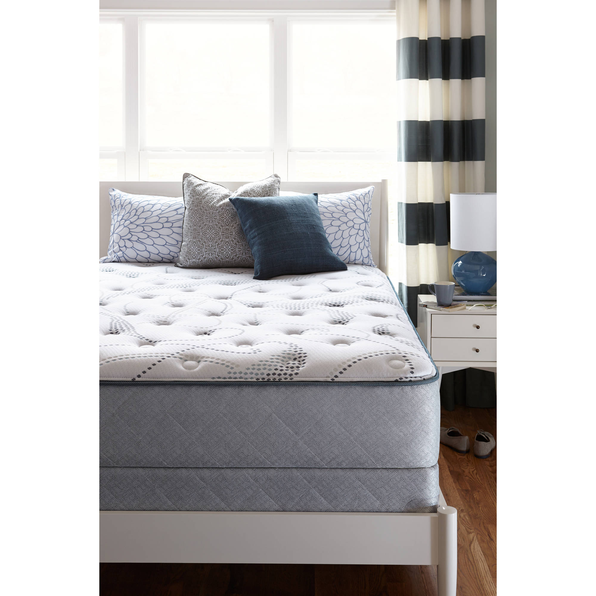 style modern firm photo of nordli angled frame headboard headboards and comfortable has lean mattress luxury is queen beautiful an bed against to