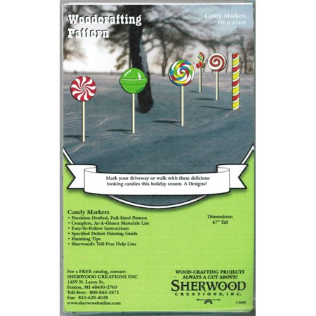 Christmas Candy Yard Art Woodworking Plans
