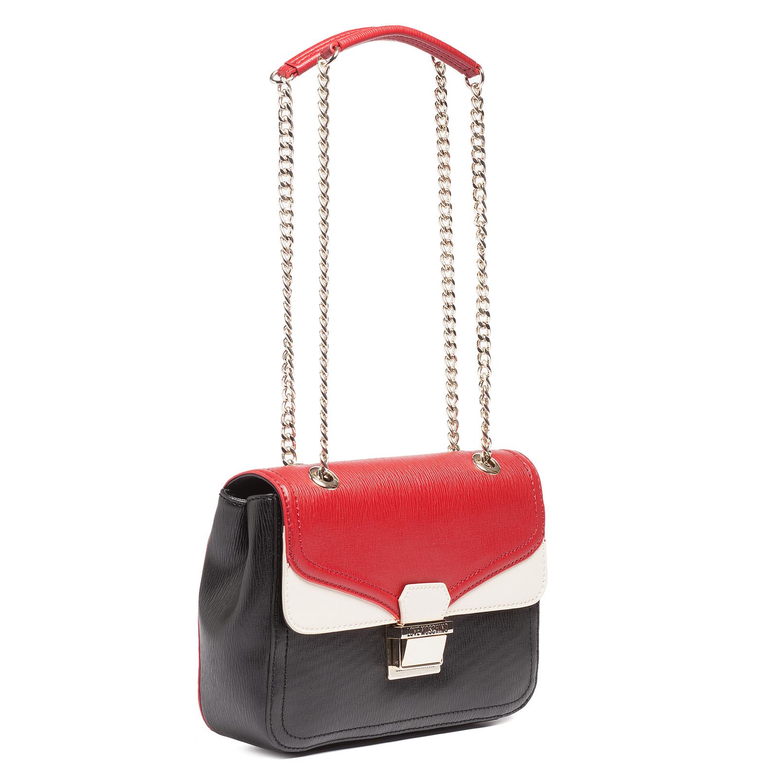 Moschino JC4141 000A Red/Black/Ivory Crossbody Bag