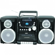 Naxa Portable CD Player with AM FM Stereo Radio Cassette Player Recorder & Twin Detachable Speakers by Naxa