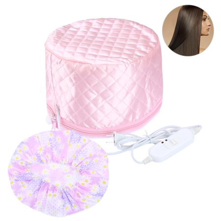 Hair Steamer Cap-Pretty See Multi-functional Hair Steamer Cap Practical Beauty Steamer Nourishing Hat Durable Hair Thermal Treatment Cap with 3 Mode Temperature Control - Bald Cap With Hair On Sides