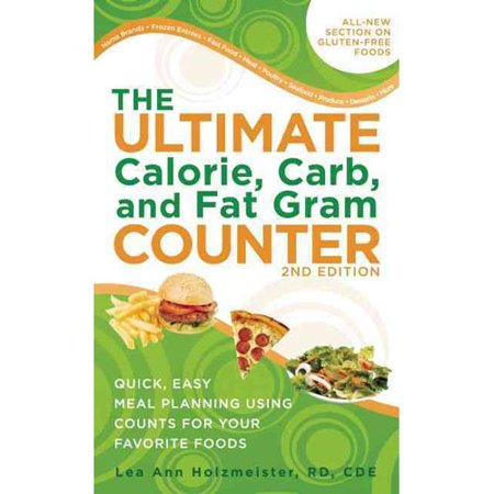 the ultimate calorie carb and fat gram counter walmart com