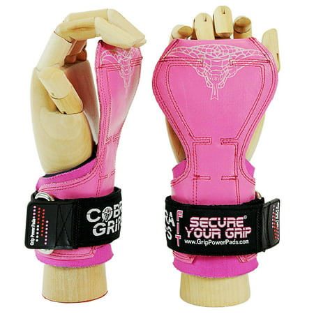 Cobra Grips FIT Pink Rubber For Ladies Best Weight Lifting Versa Gloves Heavy Duty Straps For (Fit Grid)