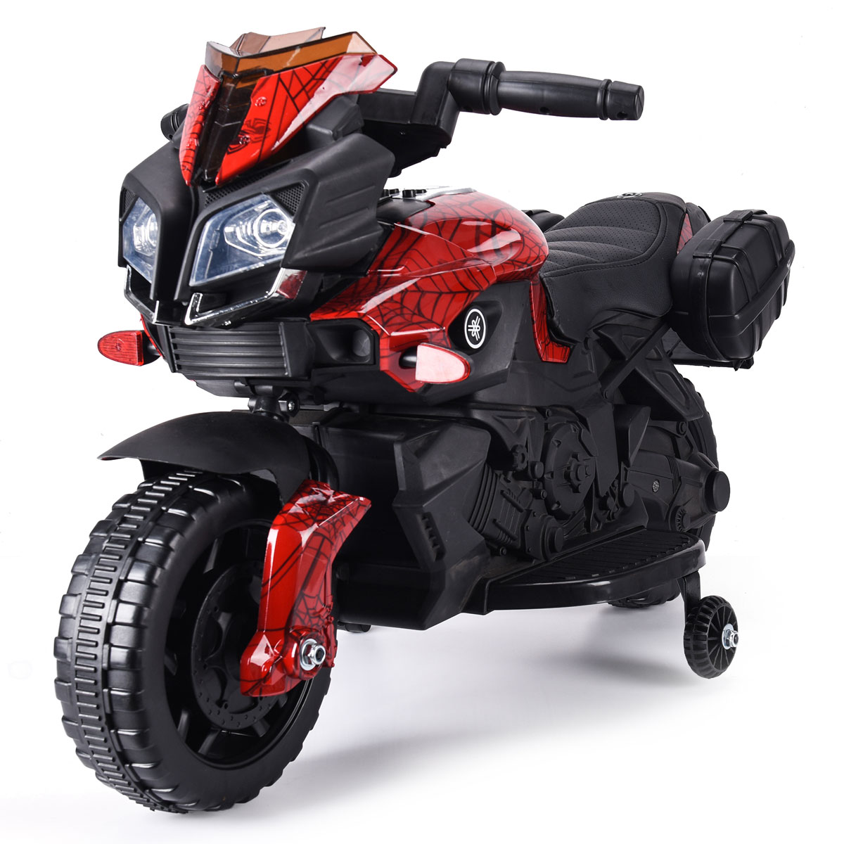 6V Kids Ride On Motorcycle Car Battery Powered 4 Wheel Bicycle Electric Toy Red by Jaxpety