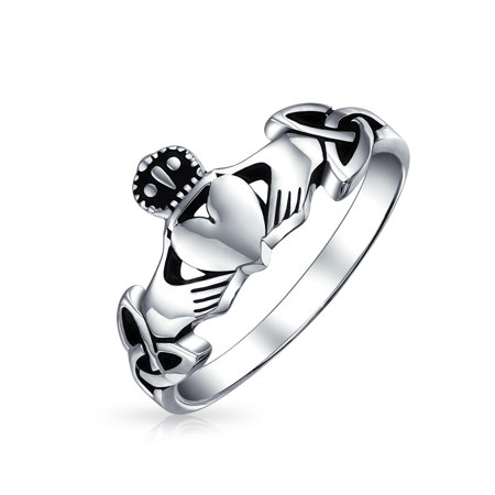 Irish Celtic Sterling Silver Claddagh Ring - image 4 of 4