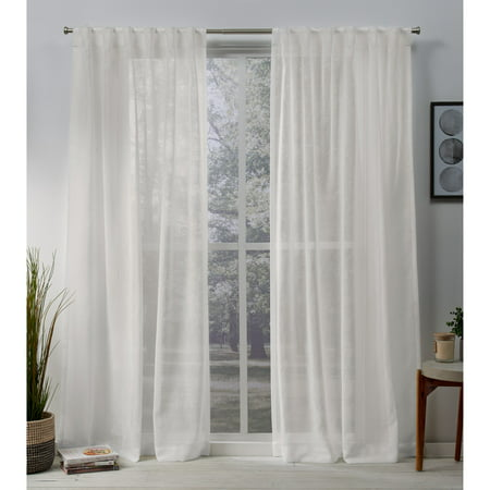 Exclusive Home Curtains 2 Pack Belgian Sheer Hidden Tab Top Curtain Panels ()