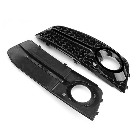 Pair Glossy Standard Style Fog Light Cover Grille Grill Fit 09-11 Audi A4 B8 - image 1 de 9