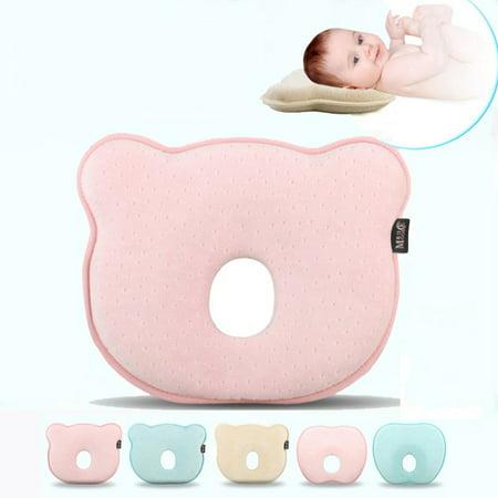 dbdc11b92f63 MOOACE Newborn Baby Cotton Pillow Memory Shape Foam Prevent Flat ...