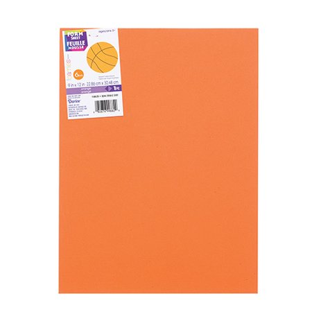 Foamies Extra Thick Foam Sheet - Orange - 6Mm Thick - 9 X 12 Inches