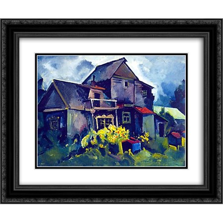 Aristarkh Lentulov 2x Matted 24x20 Black Ornate Framed Art Print 'Country House. Village Zyuzino' ()