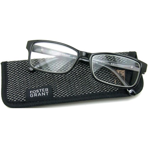 Foster Grant Madden Men's Rx-able Eyeglass Frames, O3 Black
