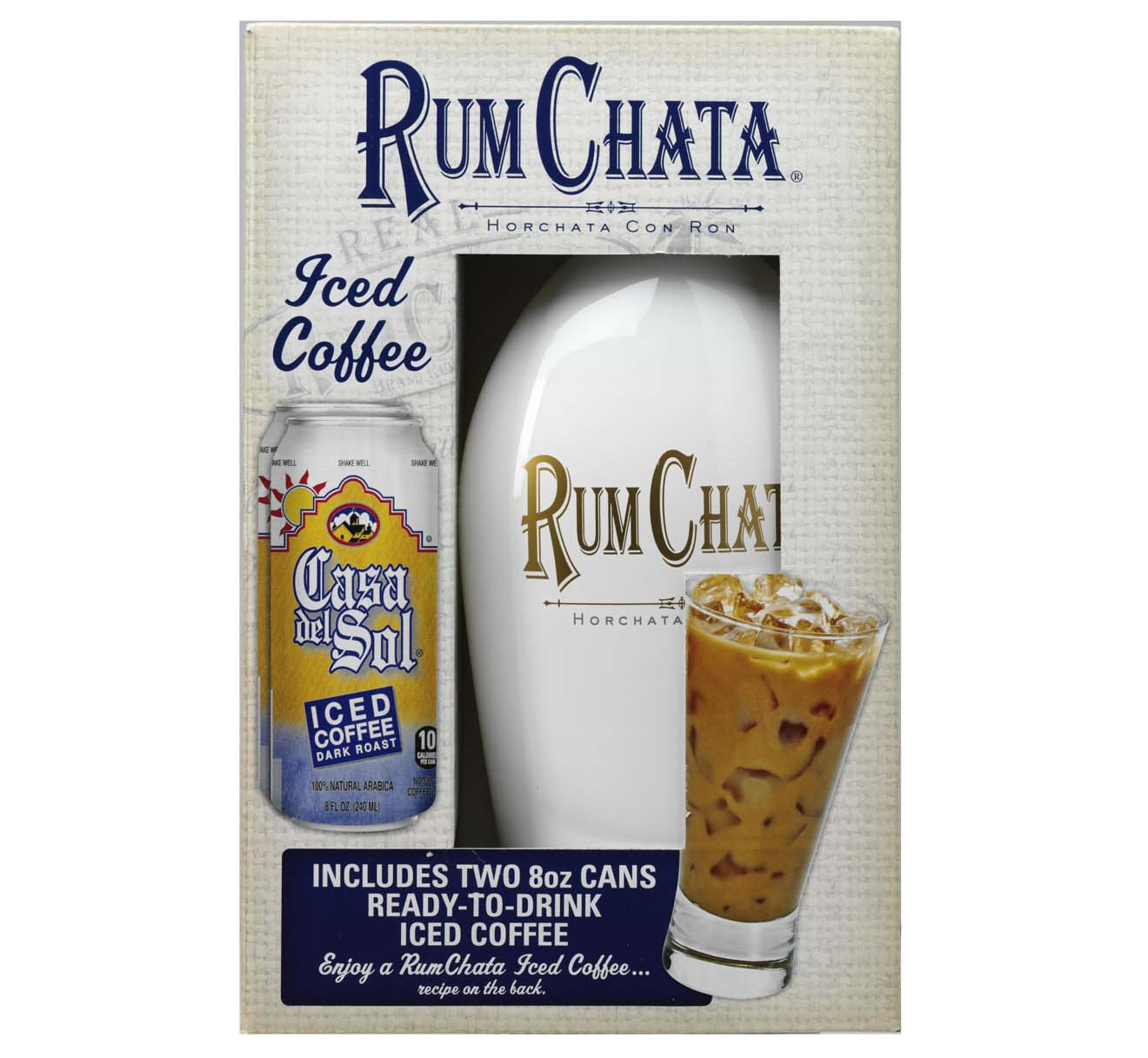 RumChata Liqueur, 750 mL W/ 2 Casa Del Sol Iced Coffee, 8 oz
