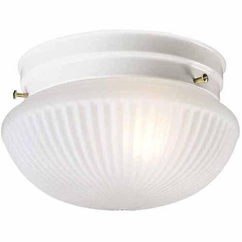 Design House 507350 Millbridge 2-Light Ceiling Mount, Textured White Finish