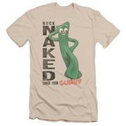 Gumby Men's  Buck Naked Slim Fit T-shirt Cream