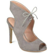 Women's Ankle Strap Faux Suede Open Toe Lace-up High Heels