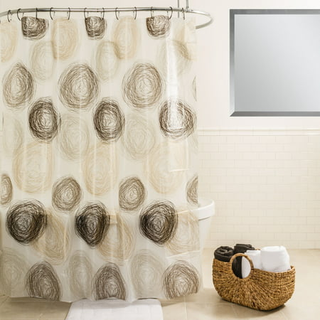 Splash Home High Quality EVA 5G Coil Shower Curtain Liner Design For Bathroom Showers And Bathtubs