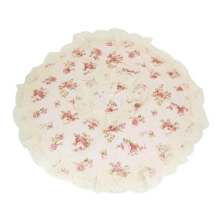 Home Floral Pattern Lace Accent 14.6