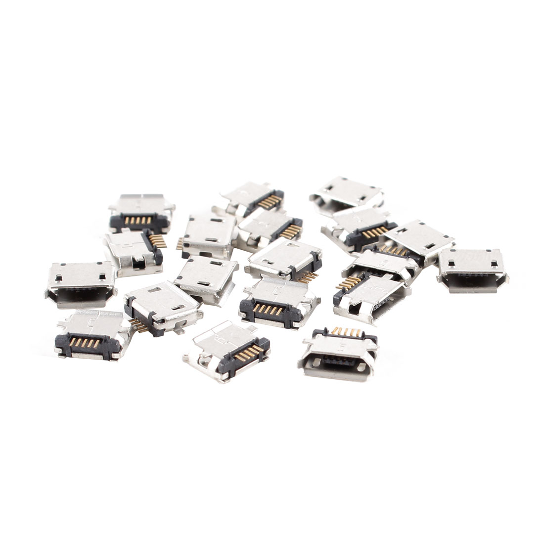 Unique Bargains 20pcs Female Micro USB Type B 5-Pin SMD SMT Socket 180 Degree PCB Jack connector