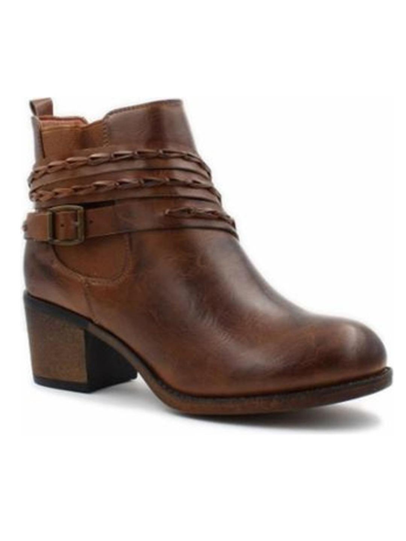 Corkys Footwear Squaw Women's Ankle Boot Shoe Brown Distressed 8 M by Corkys Footwear