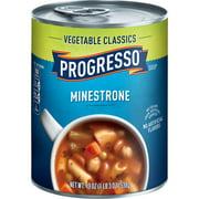 (4 pack) Progresso Vegetable Classics Minestrone Soup, 19 oz