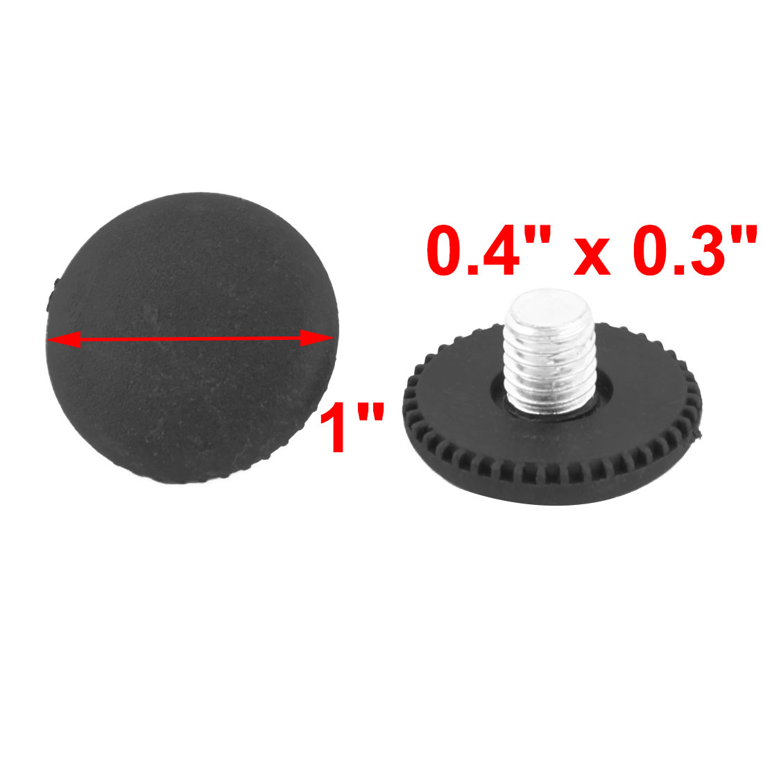 Living Room Plastic Round Adjustable Non-slip Furniture Leg Leveling Foot 50 Pcs - image 2 of 3