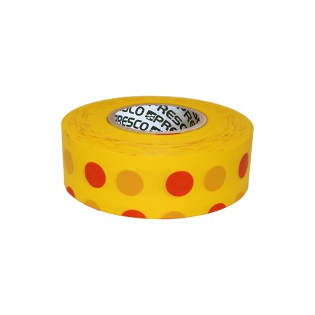 Red Polka Dots (Presco Polka Dot Patterned Roll Flagging Tape: 1-3/16 in. x 300 ft. (Yellow and Red Polka)