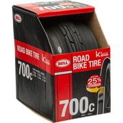Bell Sports Inertia Road Bike Tire with Kevlar, 700C x 32-45c, Black