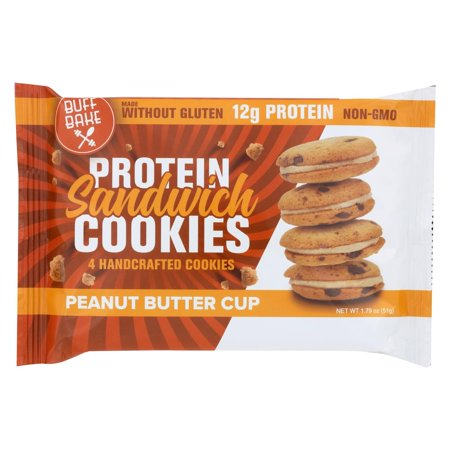 Buff Bake Cookies Peanut Butter Cup - Case Of 8 - 1.79