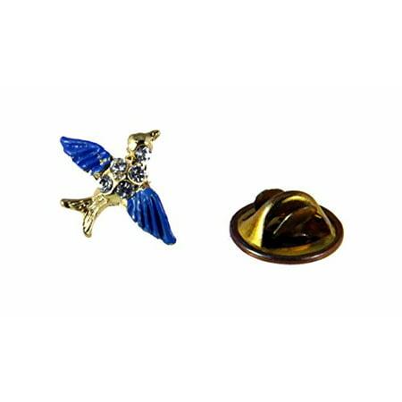 Bluebird of Happiness Lapel Pin Brooch Tie Tack Blue Bird Cheer Guide