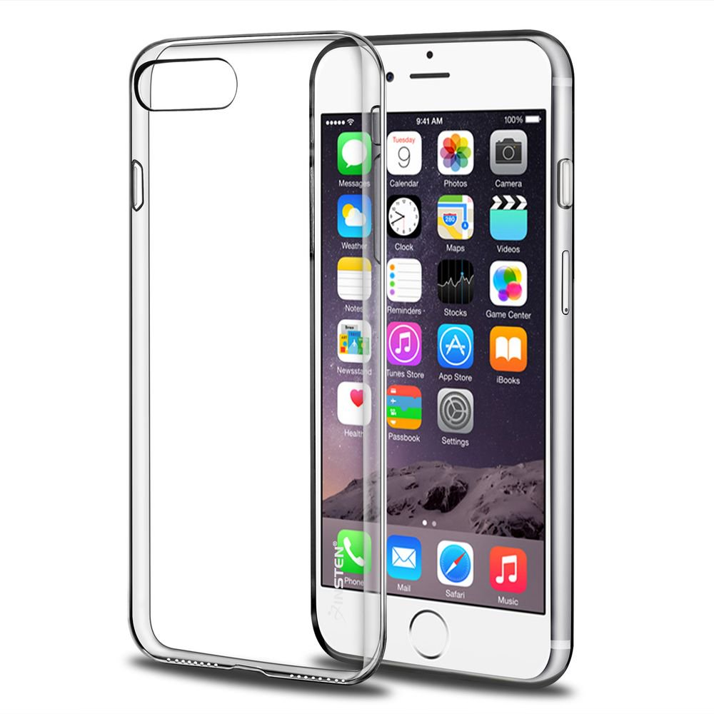 factory authentic bc6a5 53bed iPhone 7 Plus Case, by Insten Transparent TPU Gel Rubber Slim Case For  Apple iPhone 7 Plus - Clear