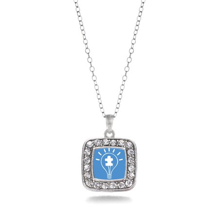 Light Bulb Autism Awareness Classic Charm Necklace