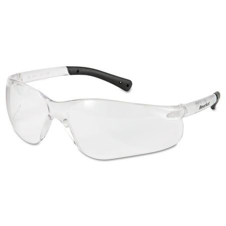 MCR Safety BearKat Safety Glasses, Frost Frame, Clear Lens -CRWBK110AFBX