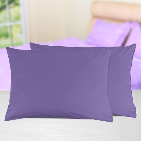 Zippered Pillowcases Covers Egyptian Cotton 2-Pack (20 x 30 Inch, Purple) - image 2 of 5
