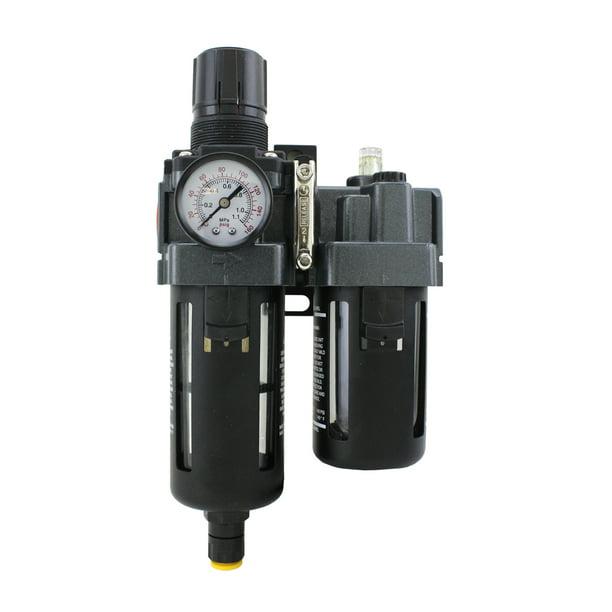 3//8 NPT Air Filter /& Regulator Piggyback Automatic Float EXELAIR by Milton FRL Polycarbonate Bowl EX45PB40A-03P