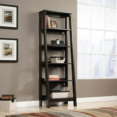 Sauder Trestle 5-Shelf Bookcase, Jamocha Wood - Sauder Trestle 5-Shelf Bookcase, Jamocha Wood - Walmart.com