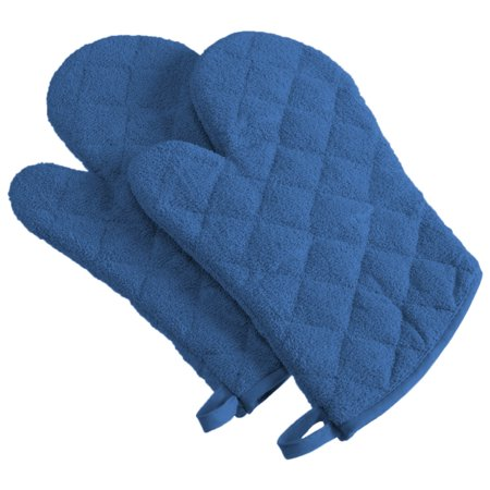 - Design Imports Terry Oven Mitts, Set of 2, Blueberry