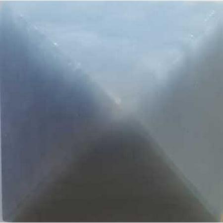 Learning Science Geology Gemstone Pyramid Angelite Heightened Awareness Peace Brotherhood 30-35mm